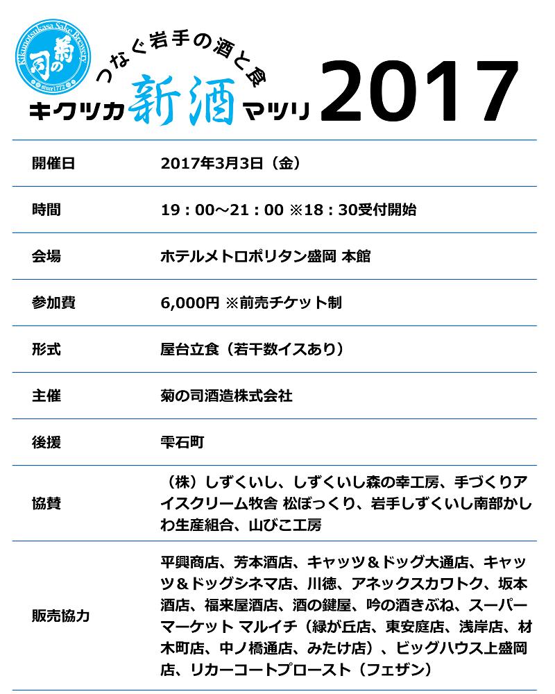 キクツカ新酒マツリ2017info