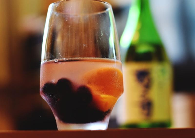 日本酒サングリア?!セブンの冷凍カットフルーツで作ってみた♪